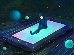 未眠的小蓝人