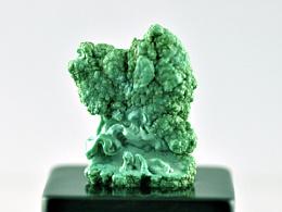绿松石雕刻作品:【梦蝶】