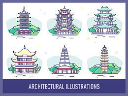 建筑插画 Architectural Illustrations