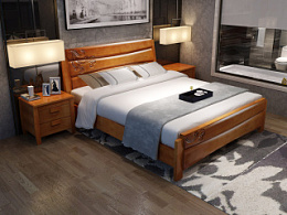 实木床系列,实木床效果图,实木家具3D效果图,淘宝家具3d效果图