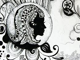 线.面--装饰画创作图片