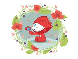 华为吉祥物设计——花花、小蜜  完善修改版