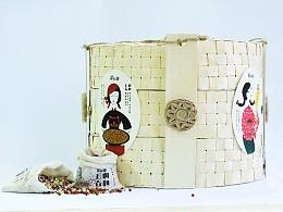 美仁禅五谷杂粮粥天然材料包装结构及装潢设计
