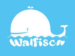 一只可爱的鲸鱼标志