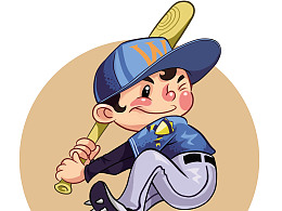 棒球少年形象