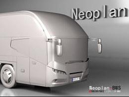 尼奥普兰高客Neoplan-BUS汽车模型