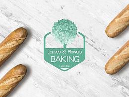 Leaves&Flowers Baking 叶语花烘焙Logo标志设计