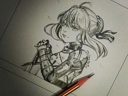 铅笔手绘练习(日漫类)