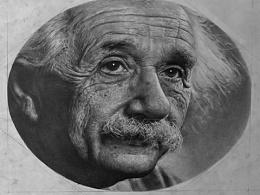 爱因斯坦肖像画