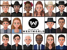 西部世界人物插画(附送头像)