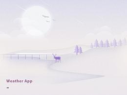 天气类概念界面