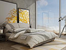 3d布艺床    《一米阳光》