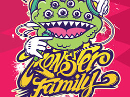 Monster family & life in the street