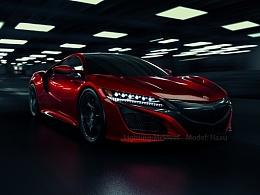 CGI 汽车摄影 讴歌 Acura NSX