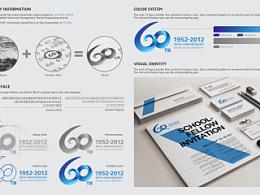大连海洋大学60周年校庆LOGO新版