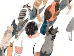 《哭泣的小猫》插画配图