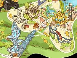 常州嬉戏谷手绘地图