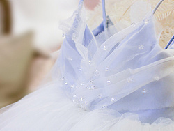 蓝色蝴蝶婚纱