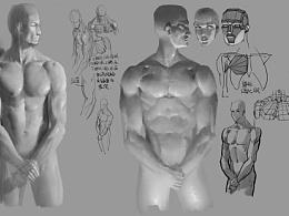 男人体练习