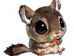 【萌宠 by 雪娃娃】小松鼠,吃果果~