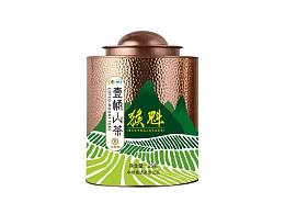 中粮集团旗下的中茶牌-一桶山茶铁罐包装