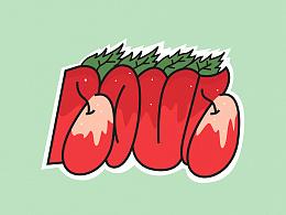 甜果系列涂鸦贴