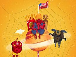 胖胖的蜘蛛侠和他的伙伴们
