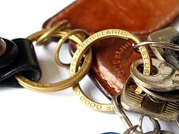 向复古致敬 黄铜印刻钥匙圈