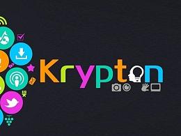 【春柳秋枫】Krypton氪星网络工作室标志设计