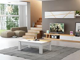 北欧实木茶几电视柜设计,客厅设计,新年第二弹