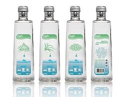 矿泉水山泉水瓶贴包装设计