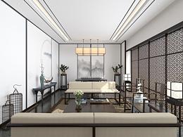 一套中式会客厅