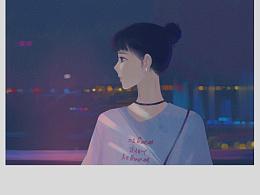 你是一种感觉,写在夏夜晚风里面。