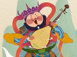 为上海华图图豆文化传播有限公司画的西游记插画