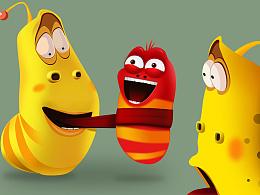 爆笑虫子系统图标设计