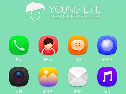临摹icon——young life