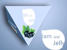 饮品包装设计 三棱锥形 纸盒 包装 多边形