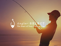 Angler SELECT logo design