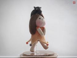 囍囍的羊毛毡 之 果果和猫~