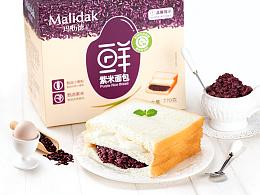 玛呖德紫米面包 糕点 奶酪包装设计