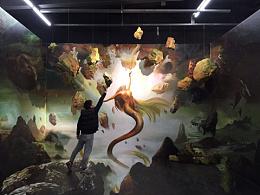 北京错觉空间装置4D画声光电布景设计