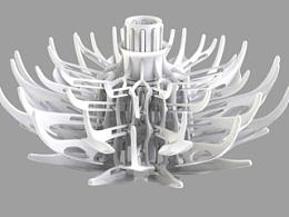 3D打印灯具之开合灯