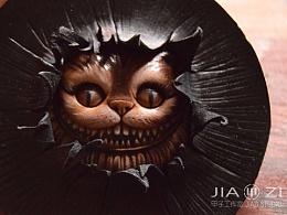 甲子工作室 皮雕太原 暗黑小品 猫眼