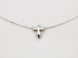 毫末原创首饰—十字喜鹊锁骨链