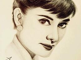 圆珠笔画——Audrey Hepburn