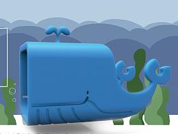 鲸鱼 充电器 套 外壳 缠线器