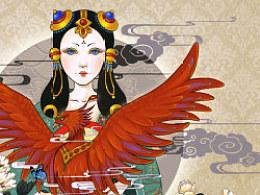 牡丹镜-火凤