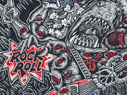 《地狱ROCK&ROLL》手绘过程