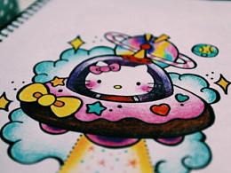 老徐的纹身手稿-Kitty系列