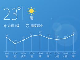 天气应用界面设计